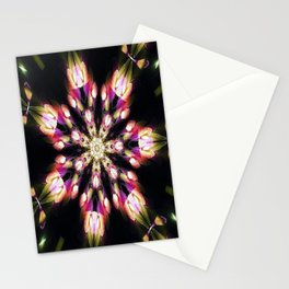 Purple & Green Fire Snowflake Stationery Cards
