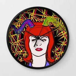 Devils horn VII pop art Wall Clock