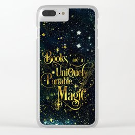 Books Are a Uniquely Portable Magic Clear iPhone Case