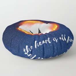 The Head is too Wise The Heart is All Fire | Raven Cycle Design Floor Pillow