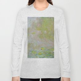 Water Lily Pond by Claude Monet Long Sleeve T-shirt