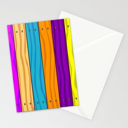 Rainbow Fence Stationery Cards