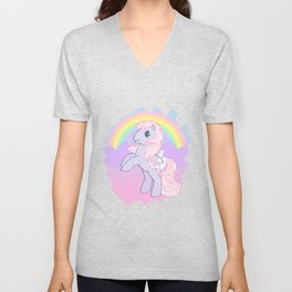 g1 my little pony lickety split Unisex V-Neck