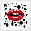 Cruella Villain Spots Red Lips by thecliffhanger