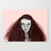 redhead Canvas Prints featuring Redhead by AParry