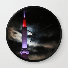 CN Tower and the moon Wall Clock