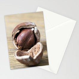cracked nut hazelnut Stationery Cards