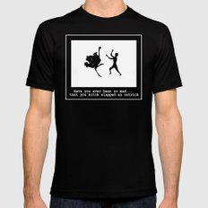 Mad at ostrich Mens Fitted Tee MEDIUM Black