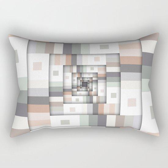 Colorful Geometric Layers Rectangular Pillow