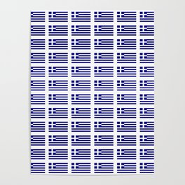 Flag of greece -Greek, Ελλάδα,hellas,hellenic, athens,sparte,aristotle. Poster