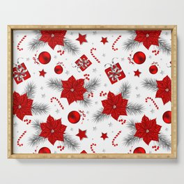 Christmas decoration pattern Serving Tray