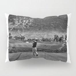 Broken Glass Sky - Black and White Version Pillow Sham