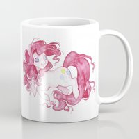 pie Mugs featuring Pinkie Pie by Savannah Horrocks