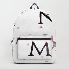Minnesota Collegiate Print With Gold and Maroon Details Backpack