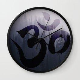 OM: Hint of Mist Wall Clock