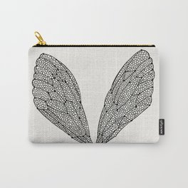 Black Cicada Wings Carry-All Pouch
