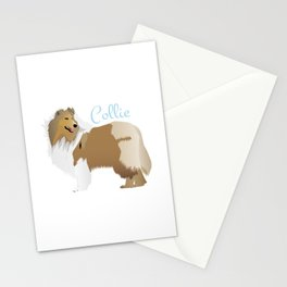 Graceful Rough Collie Stationery Cards