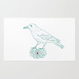 The keeper (crow) Rug