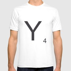 Scrabble Y Mens Fitted Tee White MEDIUM