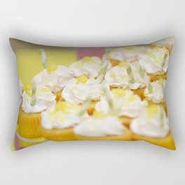 Mini Yellow Cupcakes Photograph Rectangular Pillow