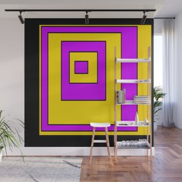 High Contrast Squares Wall Mural
