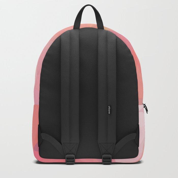 pink color polygon background Backpack