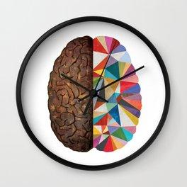 Geometric Right Brain Wall Clock