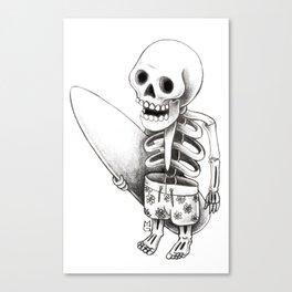Surfing stone Canvas Print