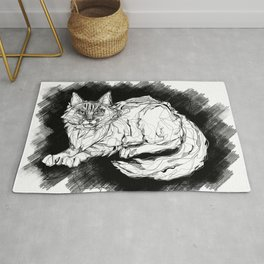 Dio the Maine Coon Rug