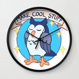 Make Cool Stuff owl emblem Wall Clock