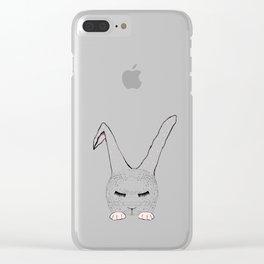Sleeping Pink Bunnie Clear iPhone Case