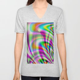 Colorburst Abstract Unisex V-Neck