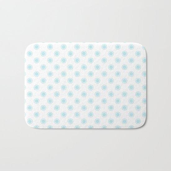 Aqua dots pattern Bath Mat