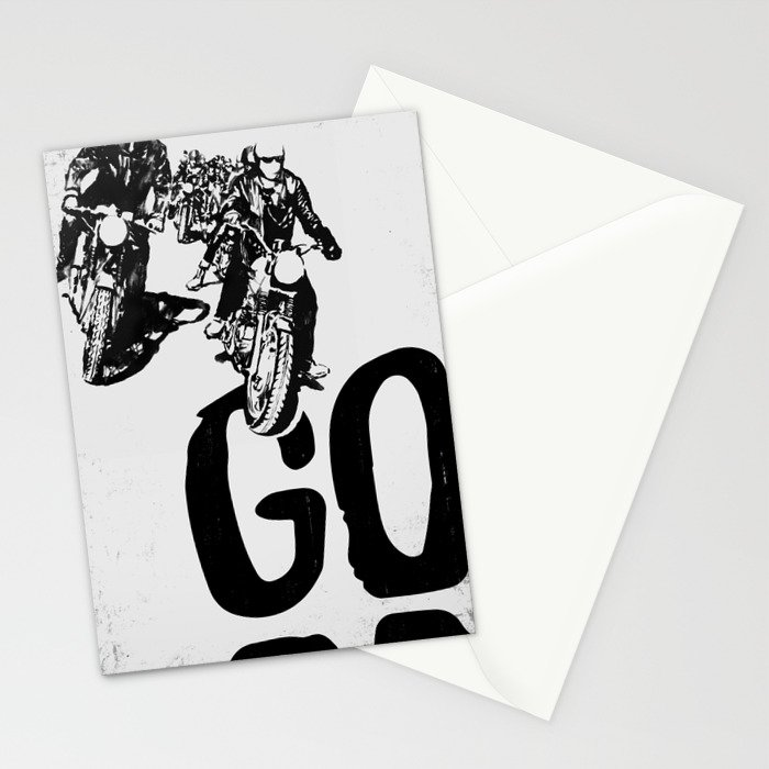 The Horde Motorcycle Art Print Stationery Cards