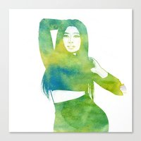 nicki Canvas Prints featuring Nicki  by Mountain View Art