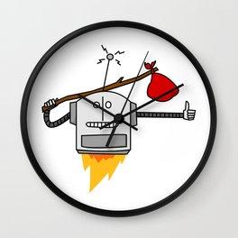 Hitchhiking Robot Wall Clock