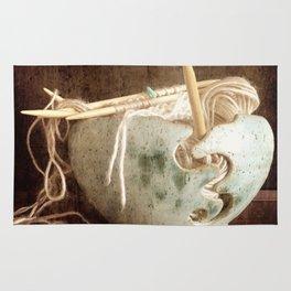 Knitting Bowl Rug