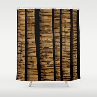 woody allen Shower Curtains featuring woody by colli13designs