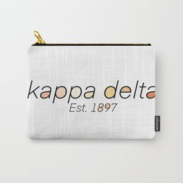 KD Colored Letters Carry-All Pouch