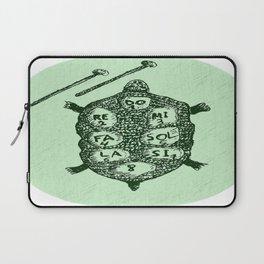Turtle on Green Laptop Sleeve