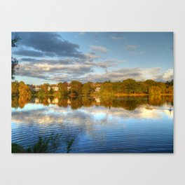 Roath Park Reflections HDR Canvas Print