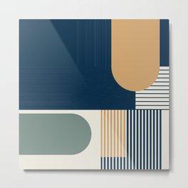 Cool Color Pallette Pattern Metal Print