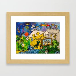CRB in Outerspace Framed Art Print