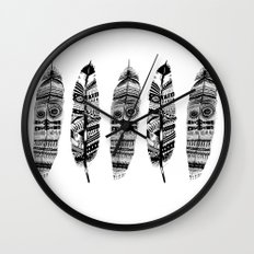 Feather time  Wall Clock