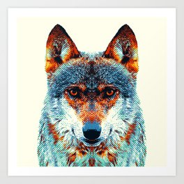 Wolf - Colorful Animals Art Print