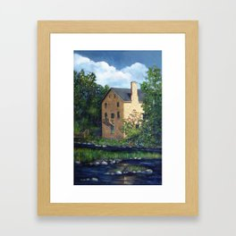 Old Stone Grist Mill, Acrylic Painting Framed Art Print