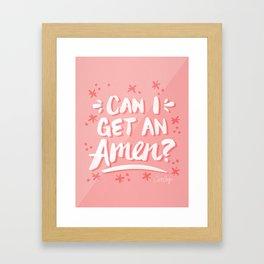 Can I Get An Amen? – Blush Pink Palette Framed Art Print