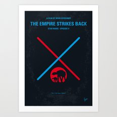 No155 My SW Episode V minimal movie poster Art Print