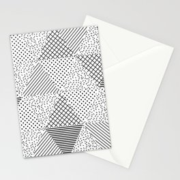 2. Patern in memphis, pop art style Stationery Cards