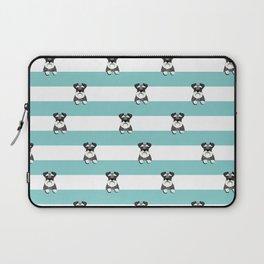 schnauzer stripes dog breed gifts Laptop Sleeve